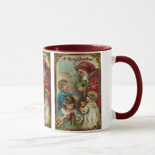 Noël de père - art vintage tasses