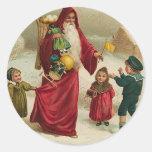 Noël de père autocollant rond
