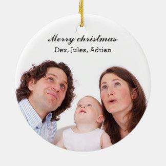 Noël de photo de famille Joyeux Ornement