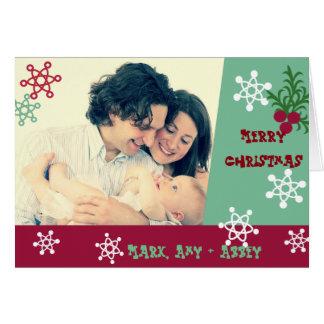 Noël de photo de style d'années '60 carte de vœux