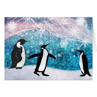 Noël de pingouin carte de vœux