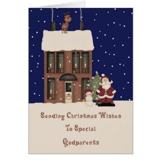 Noël de Pôle Nord souhaite des parrains Carte De Vœux