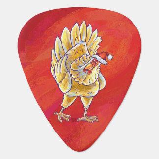 Noël de poulet sur le rouge onglet de guitare