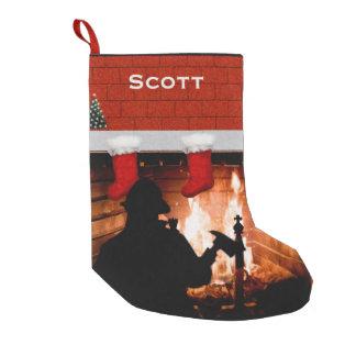 Noël de sapeur-pompier petite chaussette de noël