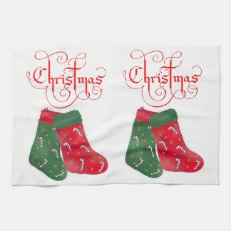 Noël de serviette de main de cuisine