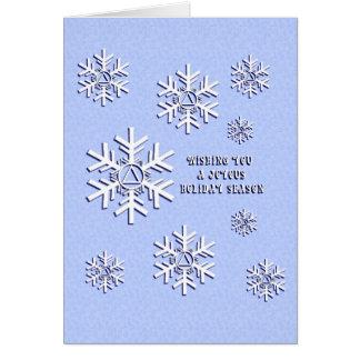 Noël de sobriété carte de vœux