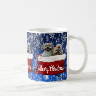 Noël de tasse de tzu de Shih
