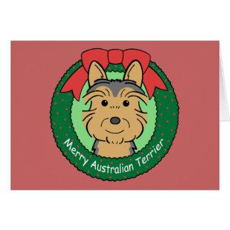 Noël de Terrier australien Cartes De Vœux