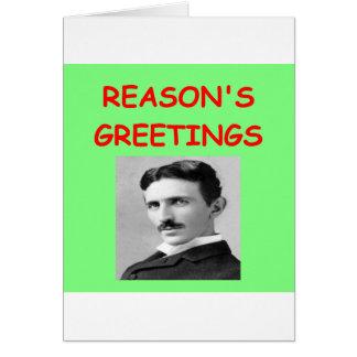 Noël de tesla carte de vœux