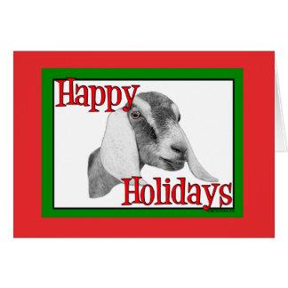 Noël de vacances de chèvre de Nubian Carte De Vœux