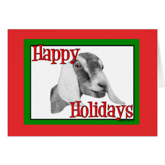 Noël de vacances de chèvre de Nubian Cartes