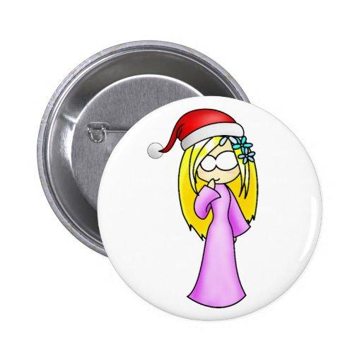 Noël de Vierge Badge Avec Épingle
