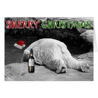 Noël de xérès noir et blanc carte de vœux