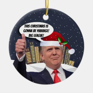 Noël de Yuge ! Ornement d'arbre de Donald Trump