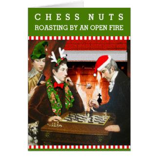 Noël d'écrous d'échecs cartes
