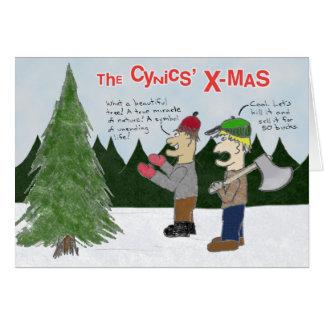 Noël des cyniques carte de vœux