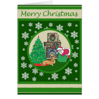 Noël d'old-fashioned de Doxie Carte De Vœux