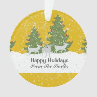 Noël d'or de nature de neige d'hiver d'hiver de