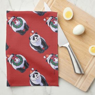 Noël d'ours panda serviette pour les mains