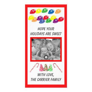 Noël doux de sucrerie - carte photo carte avec photo