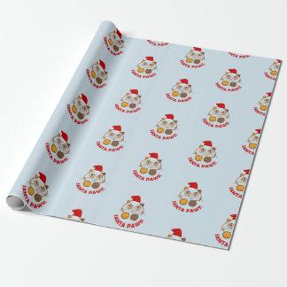"""Noël drôle de chat """"de pattes de Père Noël"""" Papiers Cadeaux"""