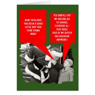 Noël drôle de facebook cartes de vœux