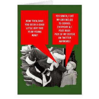 Noël drôle de gazouillement carte de vœux