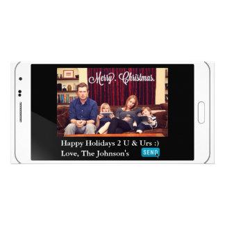 Noël drôle de service de mini-messages horizontal photocarte