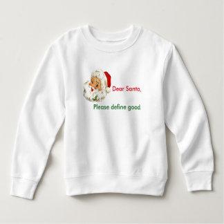 Noël drôle Père Noël de sweatshirt d'enfant en bas