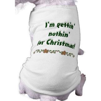 Noël drôle t-shirt pour chien