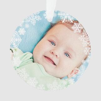 Noël du bébé de l'ornement | de photo de flocon de