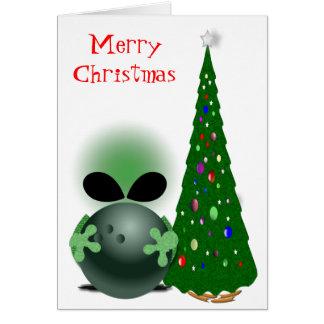 Noël du lanceur carte de vœux