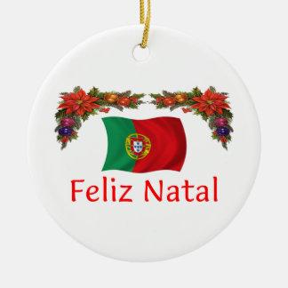 Noël du Portugal Ornement Rond En Céramique
