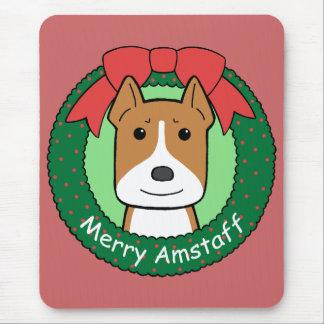 Noël du Staffordshire Terrier américain Tapis De Souris