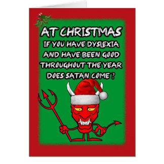 Noël dyslexique drôle carte de vœux