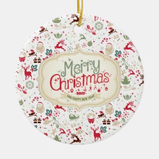 Noël écervelé élégant et ornement de nouvelle