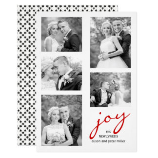 Noël élégant de collage de photo de nouveaux carton d'invitation  12,7 cm x 17,78 cm