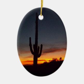 Noël en Arizona Ornement Ovale En Céramique