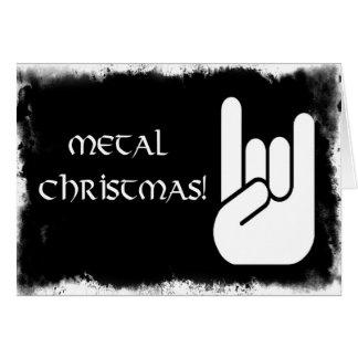 Noël en métal ! carte de vœux