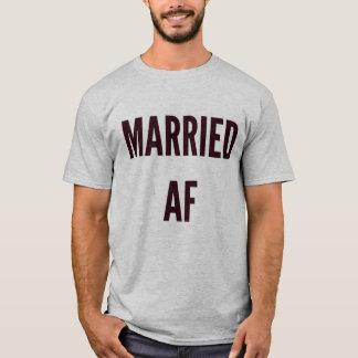 Noël épousant Noël hanoukka a marié l'af drôle T-shirt