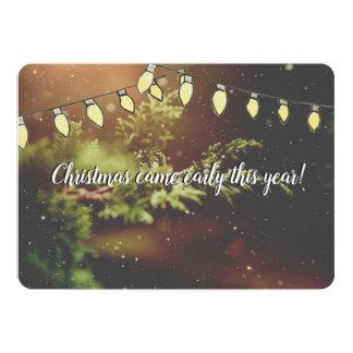 Noël est venu tôt attendant la carte de Noël