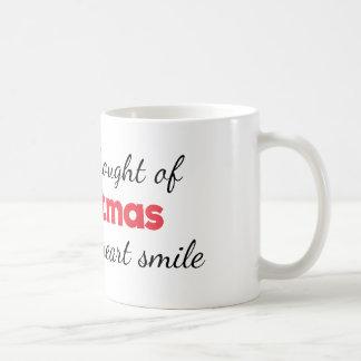 Noël fait ma tasse de sourire de coeur