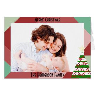 Noël géométrique de photo carte de vœux