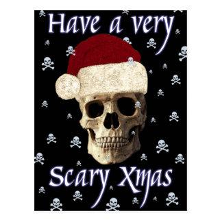 Noël gothique de Noël de crâne d'humeur drôle Carte Postale