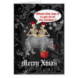Noël gothique drôle cartes de vœux