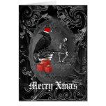 Noël gothique drôle de noir de corneille carte de vœux