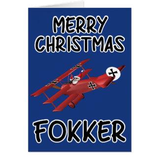 Noël grossier carte de vœux