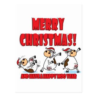 Noël heureux Breakdancing Carte Postale