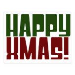 Noël heureux carte postale