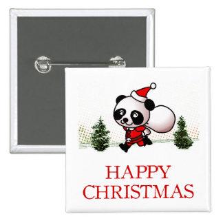 Noël heureux de panda mignon badge